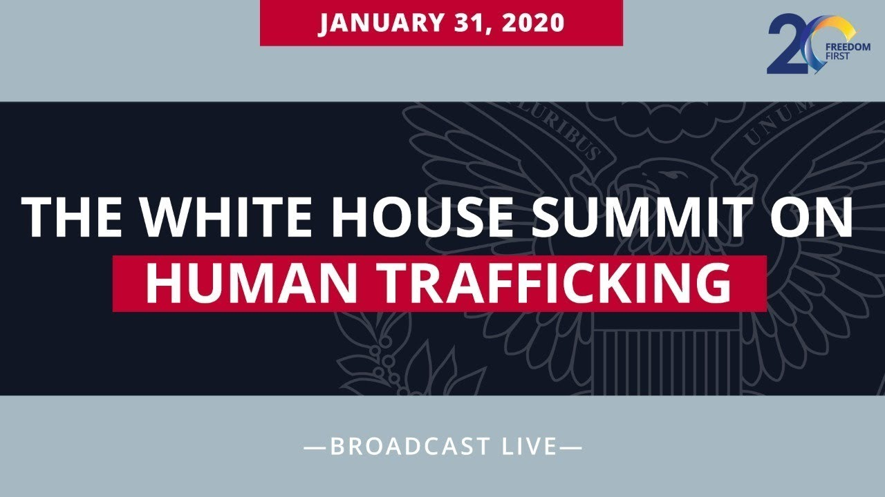 THE PRESIDENT delivers remarks at The White House Summit on Human Trafficking, 12:15pm EST, Jan 31st