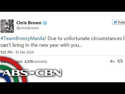 Chris Brown hindi nakarating ng Pilipinas