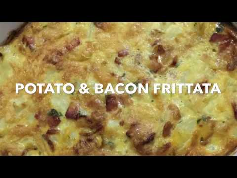 POTATO & BACON FRITTATA **simple to make**