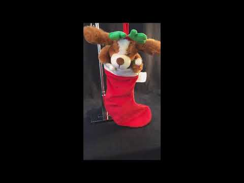 Avon Wigglin Ears Dog Christmas Animated Musical Singing Stocking