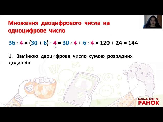 3 клас. Математика. Множення двоцифрового числа на одноцифрове