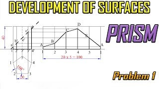 Development of Surface of Prism_Problem 1