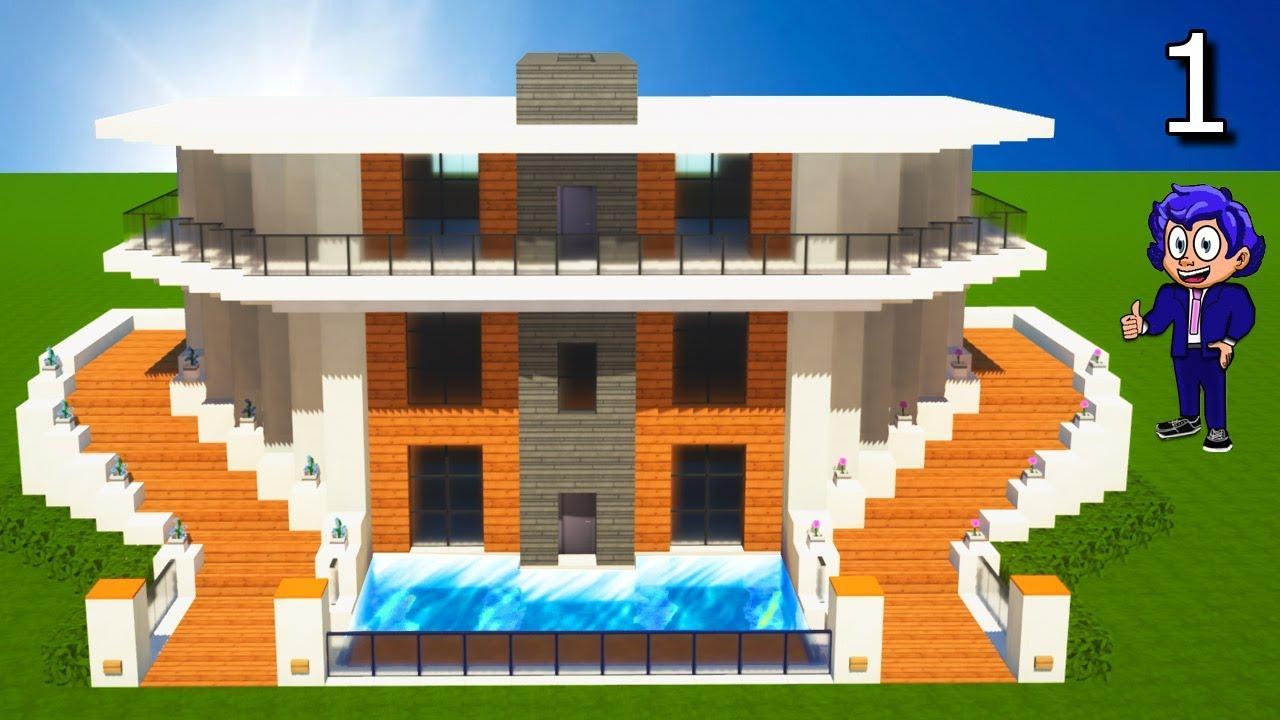 Casa moderna 11 en minecraft c mo hacer y construir parte for Minecraft casa moderna keralis