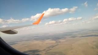 Взлет из Орска, саратовские авиалинии, Embraer-190