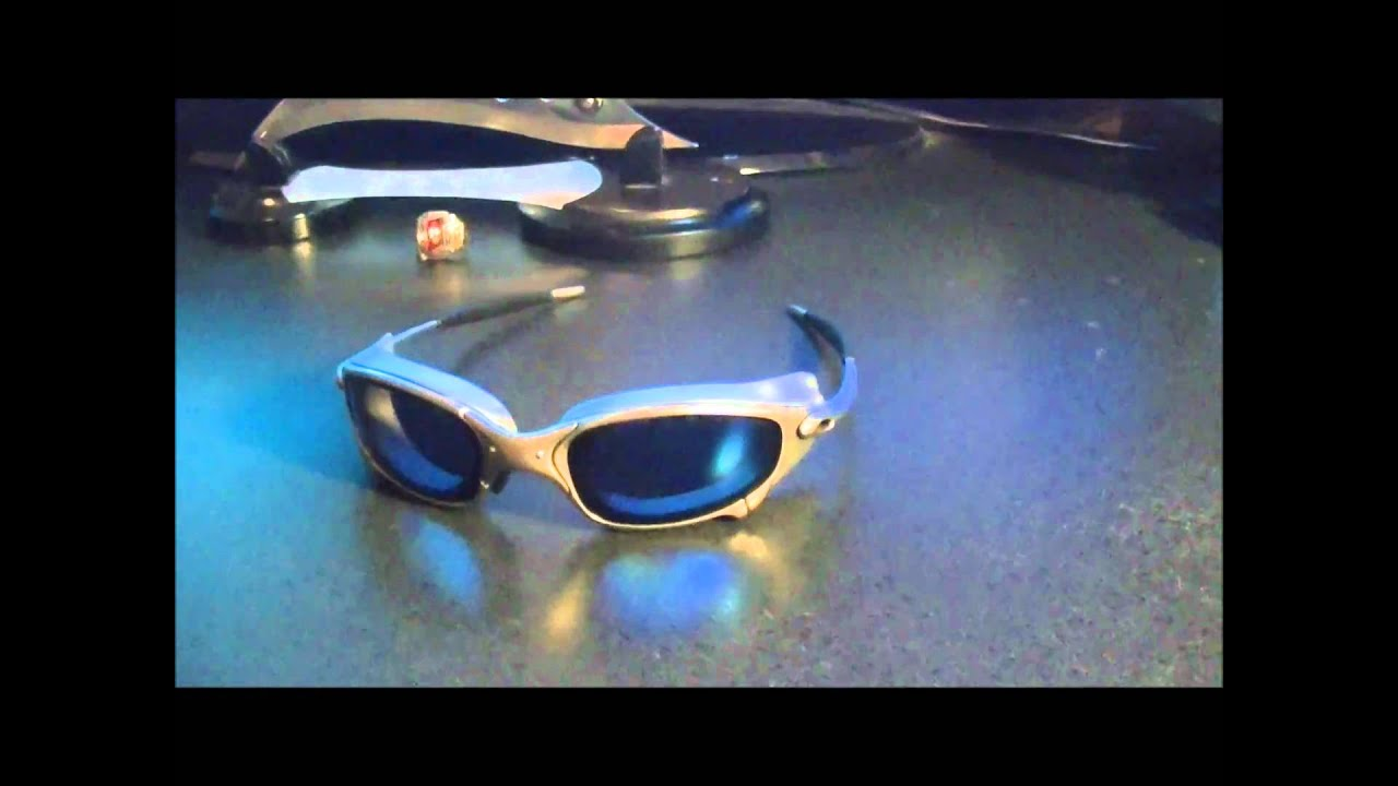 39dc6c8599 First Oakley Juliet Xmen Side-blinder movie prop glasses review on youtube