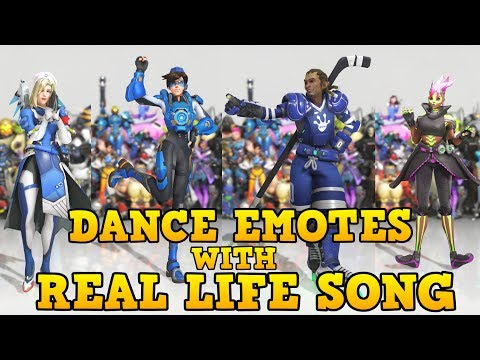 ❤ ALL NEW DANCE EMOTES WITH SONGS THAT SYNCED (Mostly) | Overwatch: Anniversary ❤