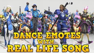 ❤ ALL NEW DANCE EMOTES WITH SONGS THAT SYNCED (Mostly) | Overwatch: Anniversary ❤ thumbnail