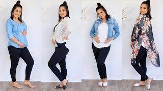 PREGNANCY LOOKBOOK IN LEGGINGS!