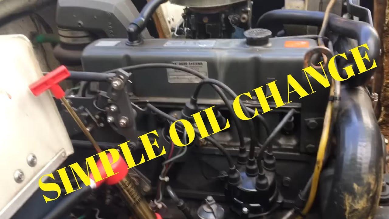 Oil Change On Omc 30 Youtube 1987 Bayliner Volvo Penta Wiring Diagram