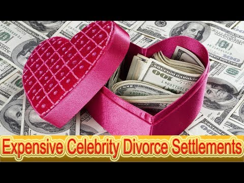 The Most Expensive Celebrity Divorce Settlements - YouTube