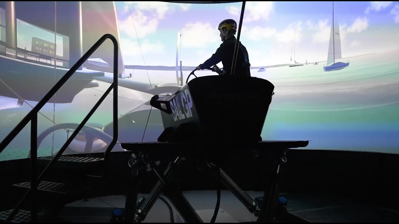 In this video Artemis Technologies unveil the company's latest piece of ground breaking technology, a new full-motion platform sailing simulator.   A 4.5 metre high, 210 degree screen, conveys images from three laser phosphor projectors, wrapped around a physical platform, similar to those used for flight and motorsport, providing an incredibly immersive experience.
