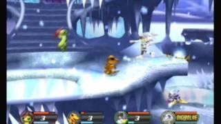 Digimon Rumble Arena 2 Palmon VS Agumon VS Patamon VS Gabumon