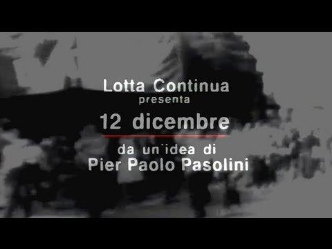 12 dicembre film pasolini
