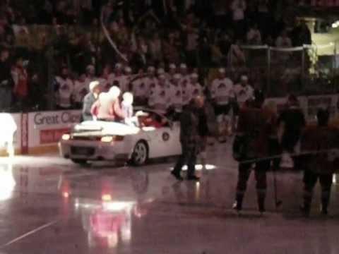 Stan Mikita Ceremonial Puck Drop at Rockford IceHogs Game Dec 22 2012