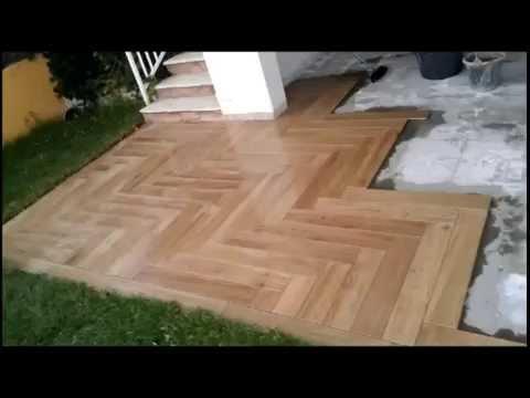 Baldosas imitacin madera  YouTube