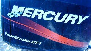 Ежегодное ТО подвесного мотора Mercury F 60 ELPT EFI   Замена масла в картере двигателя и редукторе