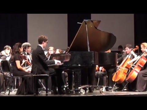 Nathan Godin plays Rachmaninoff Piano Concerto 2 - Providence High School Orchestra
