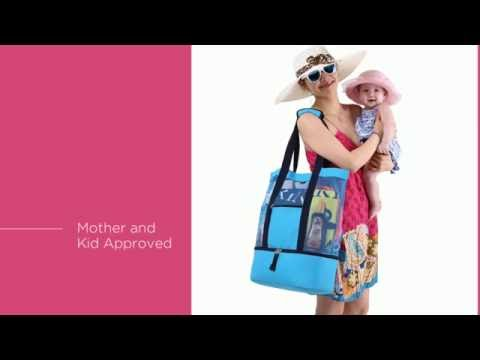 Blue Sky Basics Malibu 2-in-1 Beach Bag 1080p