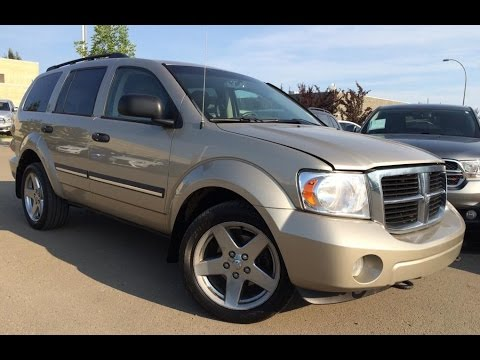 Pre Owned Tan 2008 Dodge Durango 4wd Slt Walk Around Review Penhold Alberta