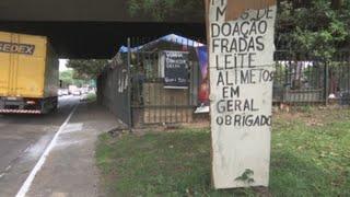 Una galería de arte bajo un puente de Sao Paulo para superar la pobreza en Brasil