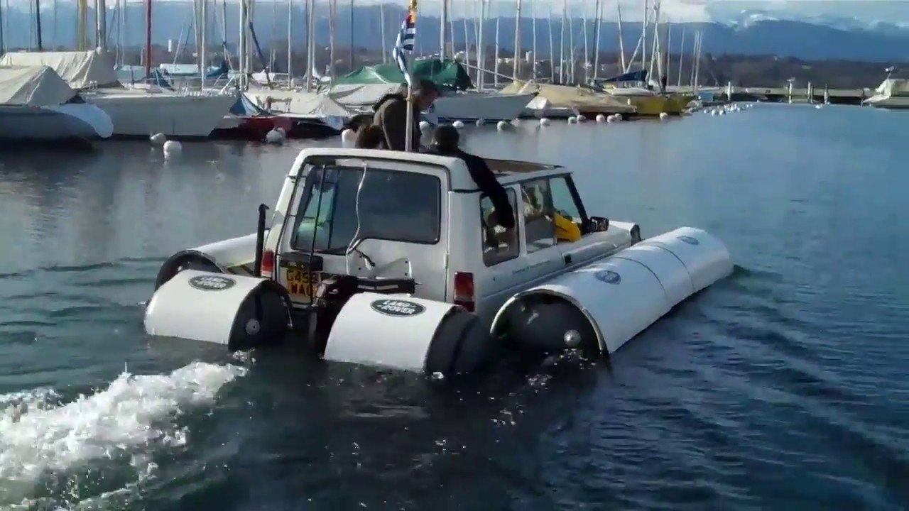 Amphibious Land Rover Discovery Youtube
