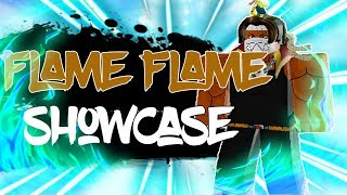 Full Flame Flame Fruit Showcase em blox Piece! | Roblox | O TerraBlox
