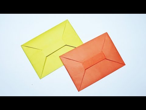 How to Make an Origami Envelope Without Glue - Easy Origami Envelope Tutorial