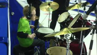 9 yr old jaxon smith rocks rush at the brier spirit of radio drum cover