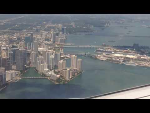 ATERRIZANDO EM MIAMI FLORIDA ESTADOS UNIDOS EUA