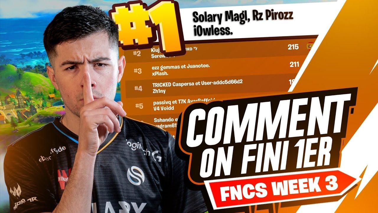 COMMENT ON FINI 1ER DES QUALIF FNCS OPEN WEEK 3