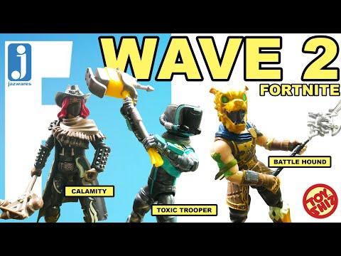 JAZWARES FORTNITE WAVE 2: Calamity, The Toxic Trooper, Battle Hound