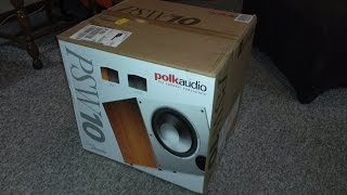 Polk audio psw10 10-inch powered subwoofer - Unboxing