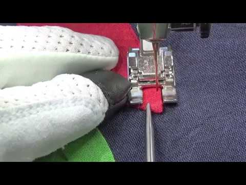 Machine applique with an open toe embroidery foot youtube