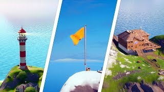 Gambar cover Land at Lockie's Lighthouse, Apres Ski and Mount Kay Locations - Fortnite