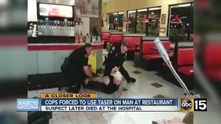 Cops forced to use taser on man at Phoenix restaurant