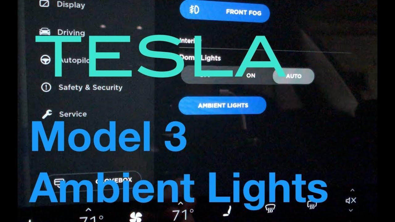 tesla model 3 ambient lights