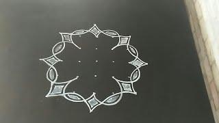 Latest and creative design rangoli...rakhi special..5 to 3 dots..simple rangoli..