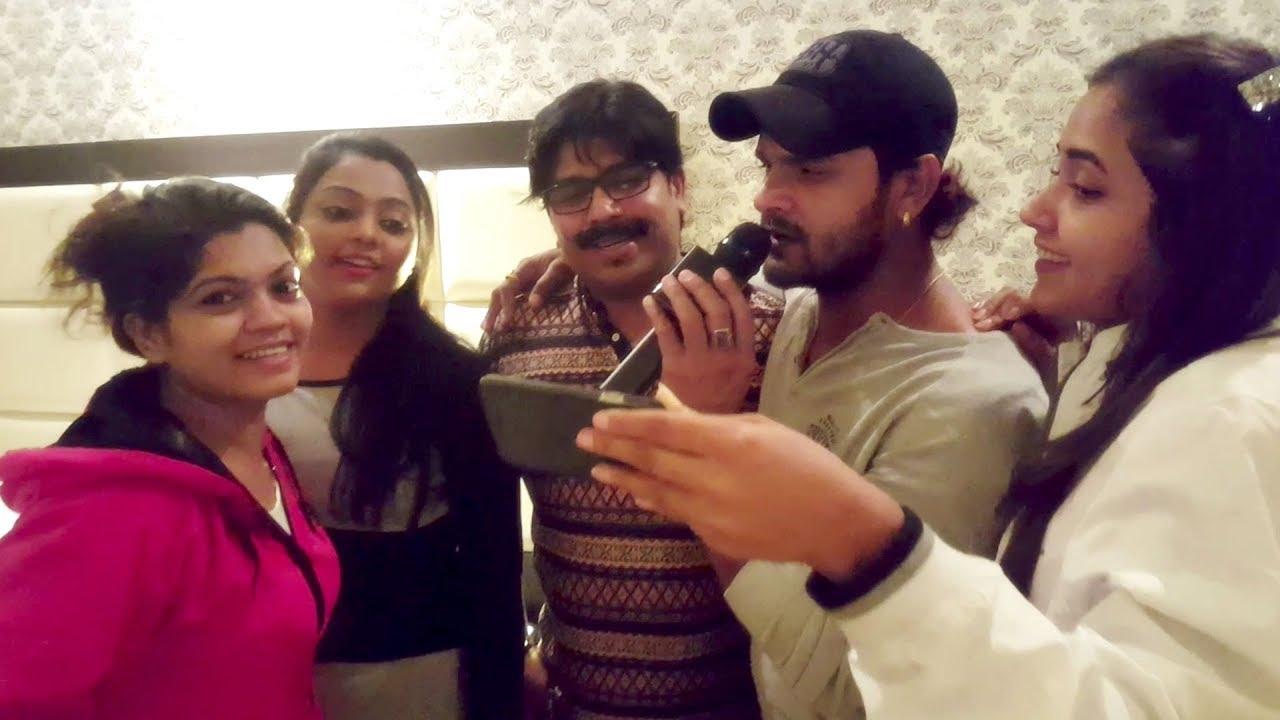 Download Khesari Lal Yadav Singing In Qatar | Kajal Raghwani, Nisha Dubey, Tayab & Kajal Yadav