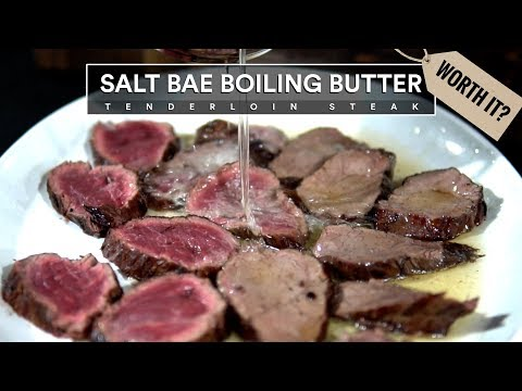 Salt Bae's BUTTER TENDERLOIN RECIPE Tested - Nusr-Et Steakhouse Restaurant!
