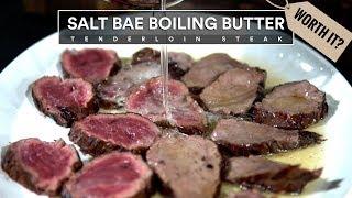 Salt Bae&#39s BUTTER TENDERLOIN RECIPE Tested - Nusr-Et Steakhouse Restaurant!
