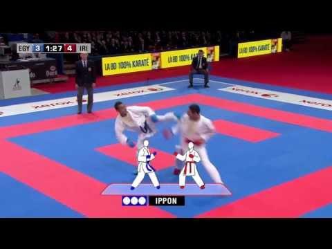 Final Male Kumite -67kg. Magdy Hanafy vs Saeid Ahmadikaryani. WKF World Karate Championships 2012