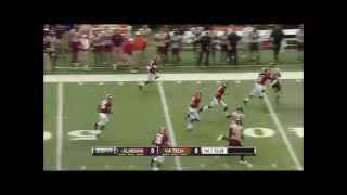 Christion Jones  Alabama  72 Yard Punt Return | Chik-fil-a Kickoff Game |