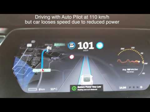 WHAT HAPPENS WHEN YOUR TESLA RUNS OUT OF POWER???
