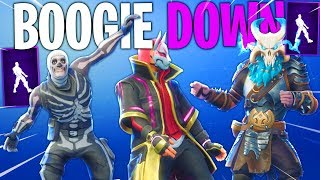 *NEW* Boogie Down Emote With All Popular Fortnite Skins..!