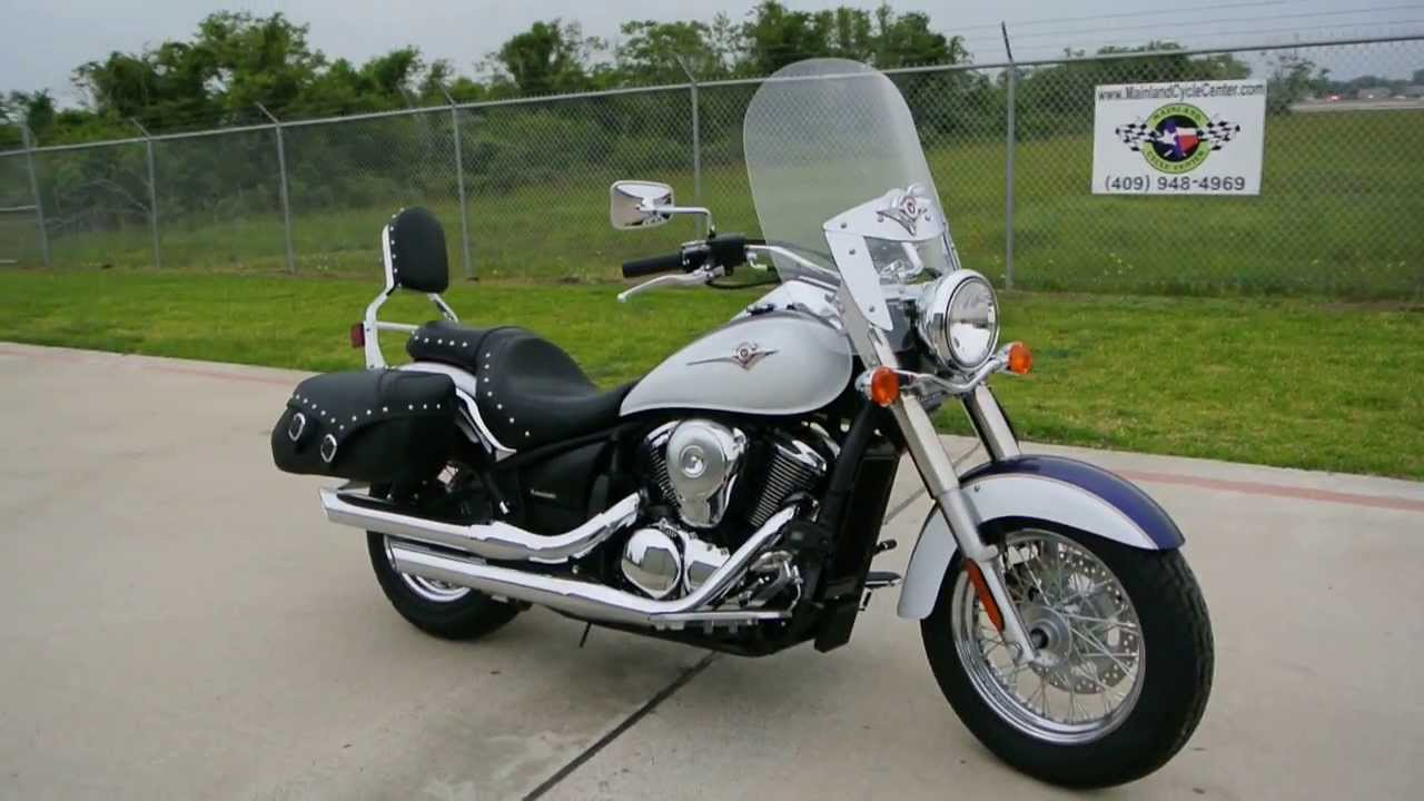 2013 Kawasaki Vulcan 900 Classic LT In Candy Mystic Blue Pearl Crystal White Two Tone