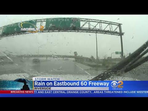 Heavy Rain, Gusty Winds Hit Moreno Valley