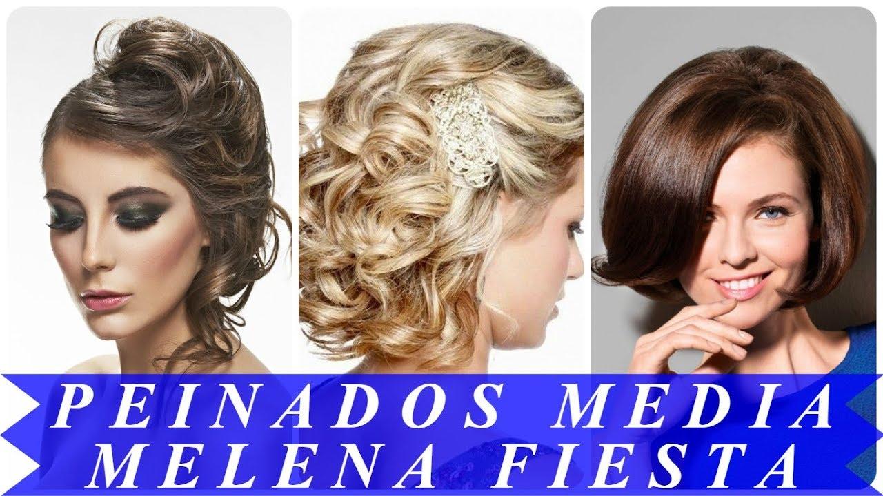 Nuevos Peinados Para Cabello Mediano Para Fiesta 2018 Youtube