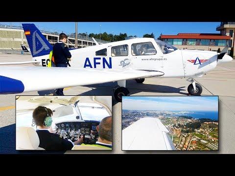 Vuelo Entrenamiento IFR | VIGO - SANTIAGO - A CORUÑA | PA28 Archer | Escuela de Pilotos AFN