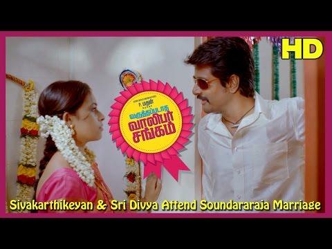 Varuthapadatha Valibar Sangam   Scenes   Sivakarthikeyan & Sri Divya Attend Soundararaja Marriage