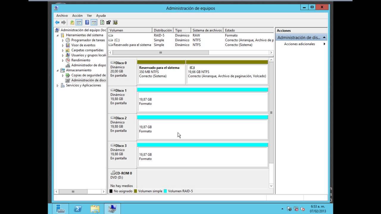 Raid 5 Windows Server 2012 Youtube